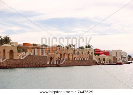 Canal In El-gouna, Egypt