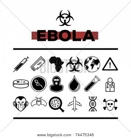 Digitally generated Ebola vector with text and symbols