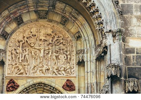 Bas-relief On Church Of Our Lady Before Tyn In Prague, Czech Republic