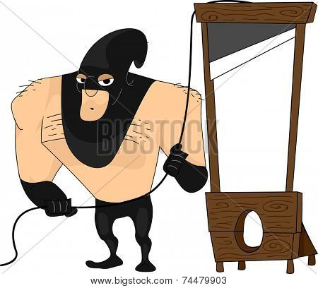 Illustration Featuring a Bulky Executioner
