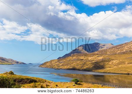 Mweelrea In Killary Harbour In Connacht