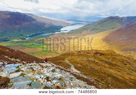 View Of Kylemore Lough From Diamond Hill
