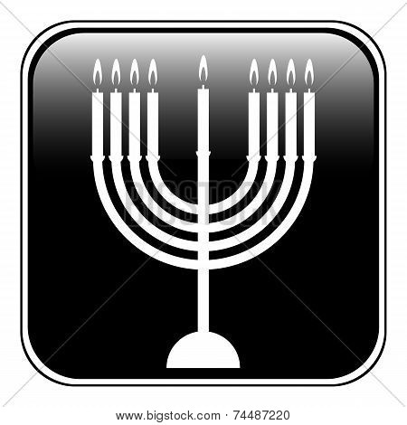 Chanukah Symbol Button