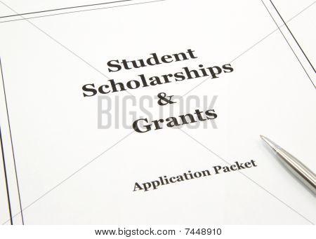 Stipendien und Zuschüsse Anwendung packet