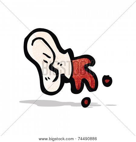 cartoon cut off ear