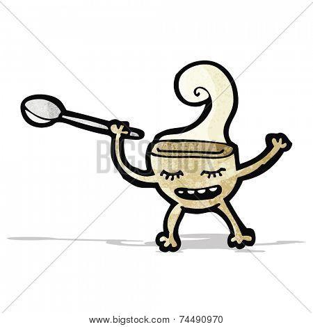 cartoon soup bowl character