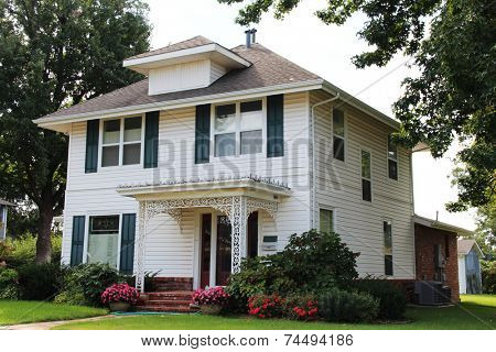 Single family house in middle of America