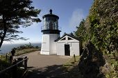 image of mear  - View of the Cape Meares lighthouse in Oregon - JPG