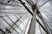 image of sparring  - Maritime Naval Rigging of an old merchant clipper - JPG