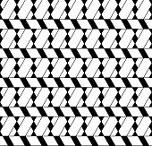 pic of trapezoid  - Black and white geometric seamless pattern with line rhombus trapezoid and triangle eps10 vector - JPG