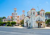 stock photo of larnaca  - Two Ayia Faneromeni Churches - JPG