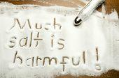 foto of hypertensive  - Much salt is harmful  - JPG