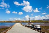 pic of galway  - Pier with moored boats in Letterfrack in County Galway - JPG