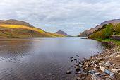 picture of galway  - Idyllic Kylemore Lough in Connemara in County Galway Ireland - JPG
