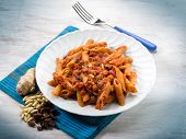 foto of pine nut  - pasta with tomatoes dried grape and pine nuts - JPG