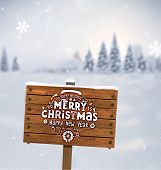 image of plaque  - Winter Background - JPG