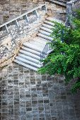 stock photo of bannister  - beautiful staircase in the park - JPG