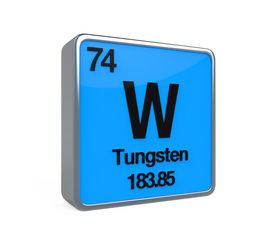 stock photo of periodic table elements  - Tungsten Element Periodic Table isolated on white background - JPG