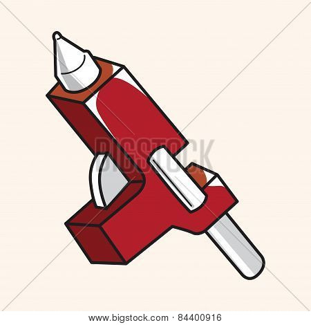 Work Tool Hot Melt Glue Gun Theme Elements Vector,eps