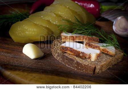 Sandwich With Spiced Lard