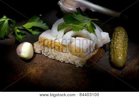 Sandwich With Salted Lard