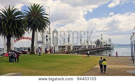 Geelong, Australia - December 25, 2014: Australians Are Resting