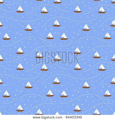 Boats seamless pattern