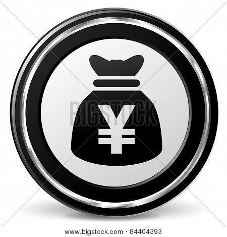 Yen Bag Icon With Metal Ring