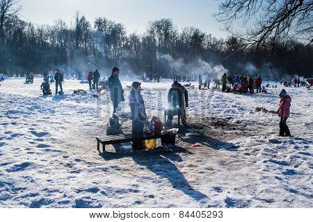 Winter Snow Shashlik Bbq