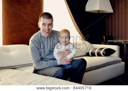 father and young son