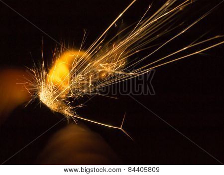 Gold Yellow Lighter Sparks