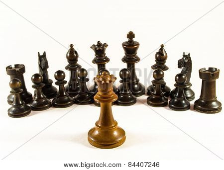 Chess The Queen Faces An Army