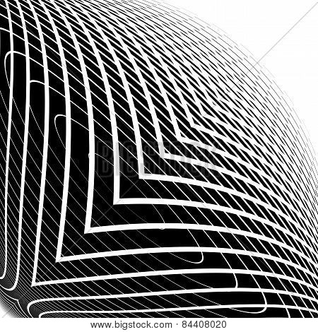 Design Monochrome Warped Grid Backdrop