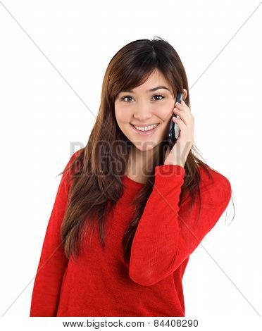 Asian Girl With Mobile Phone