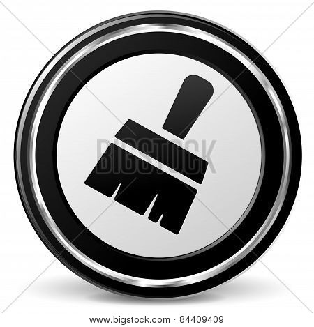 Paintbrush Icon With Metal Ring