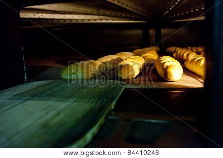 Oven Inside Plenty Of Bread