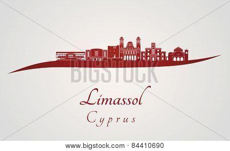Limassol Skyline In Red