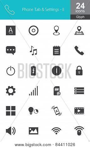 Phone Tab and Settings Monocolor II
