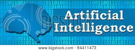 Artificial Intelligence Binary Brain Banner