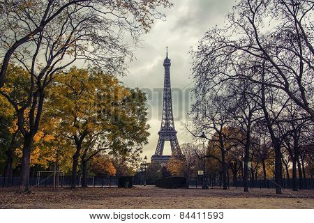 Champ De Mars Park In Autumn