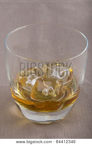 Scotch Whiskey With In A Glass