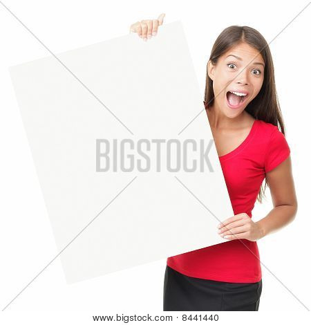 Billboard Poster Woman