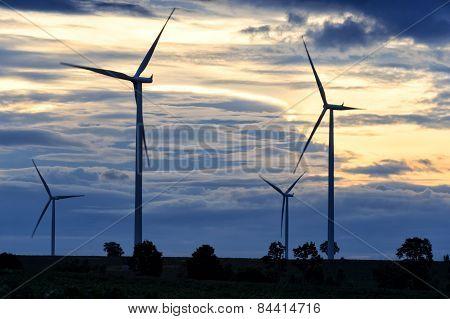 Field Of Wind Turbine, Thailand