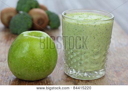 Vegetable smoothie.