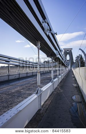 Steel Cables Of Clifton Suspension Bridge, Bristol, Uk