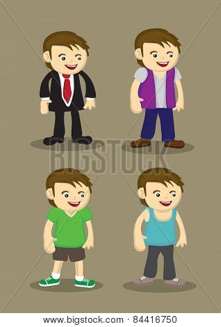 Man Fashion Vector Illustration