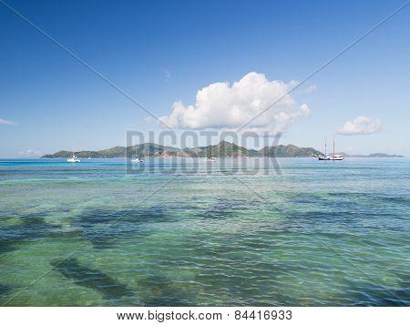 Seascape With A Large Cumulus Clouds