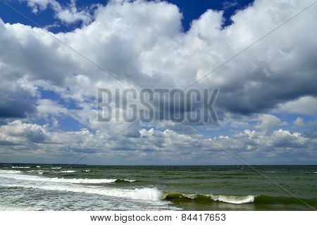 Baltic Sea And Clouds