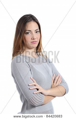 Woman Posing Disgusted