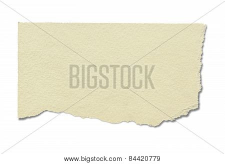 Recycled Blank Paper(clipping Path)